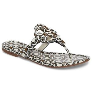 3c86c6533ad94a Tory Burch Shoes - NWT Tory Burch ivory printed Miller thong sandals